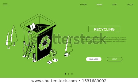 recycling   line design style isometric web banner stock photo © decorwithme