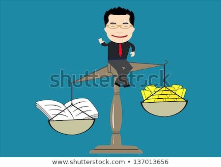 Man boeken jonge student vergadering boek Stockfoto © ShustrikS