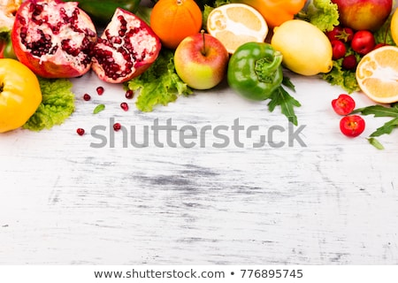Fruits and vegetables frame. Copy space. Vegan. Clear food. Stock photo © Illia