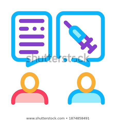 Doctor Injections Consultation Icon Vector Outline Illustration Stock photo © pikepicture