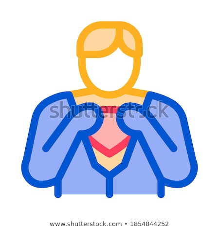 Removing Mask from Hero Icon Vector Outline Illustration Stock photo © pikepicture