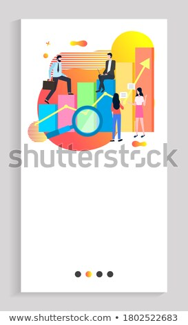 Scaling Your Business, Businessman on Infocharts Stock photo © robuart