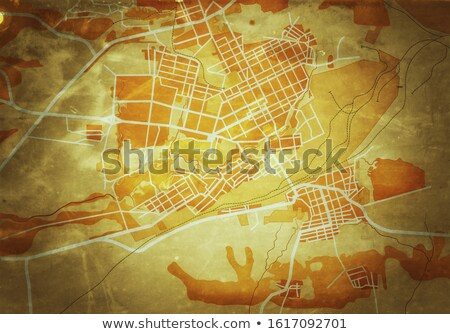 Map of The City. Geographical Navigation Guide, Route Urban Chart. (Grunge Vintage Remake). Stock photo © Glasaigh