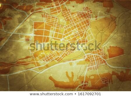 Mapa ciudad geográfico navegación orientar ruta Foto stock © Glasaigh