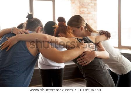 グループ 小さな スポーティー 女性 スポーツウェア 立って ストックフォト © pressmaster