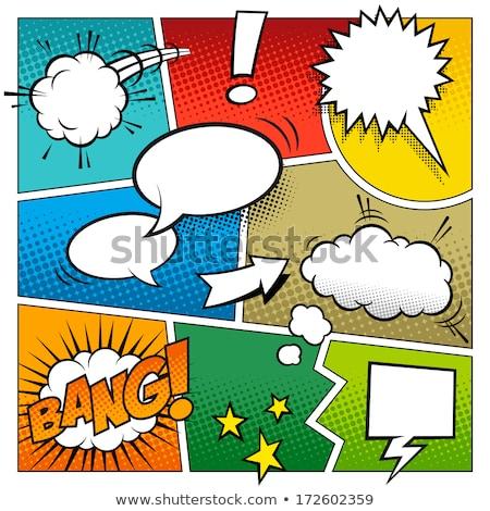 Fumetto zoom linee vuota set design Foto d'archivio © SArts