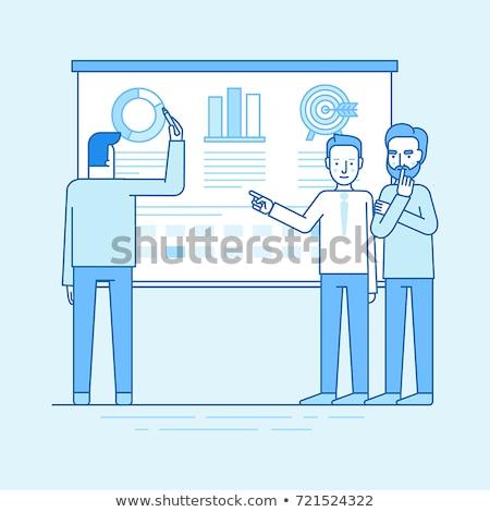 Spreker statistisch icon vector schets illustratie Stockfoto © pikepicture