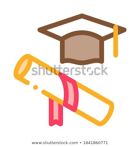 Akademi mezun ikon vektör örnek Stok fotoğraf © pikepicture