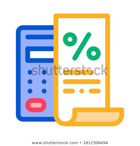 Check with Mathematical Interest Calculations Icon Vector Outline Illustration Stock photo © pikepicture