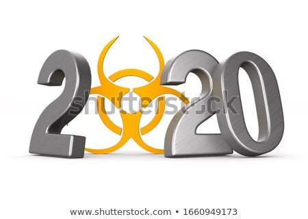 év szimbólum bioveszély fehér izolált 3D Stock fotó © ISerg