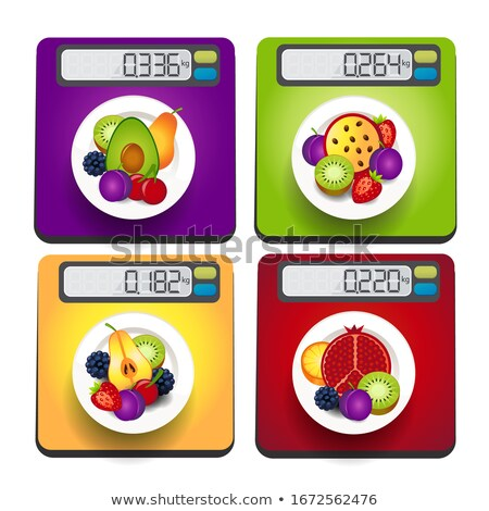 avocado Electronic scales for products  Stock photo © Olena