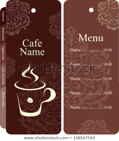 Book Menu for Restaurant or Coffeehouse Vector Stock photo © robuart