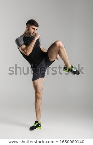 Immagine uomo calci Foto d'archivio © deandrobot