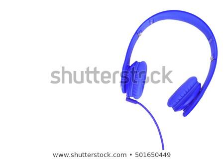 Blauw stereo hoofdtelefoon klaar Stockfoto © JamiRae
