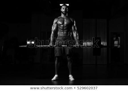 Bodybuilder zwaar gewicht oefening triceps hand Stockfoto © Jasminko