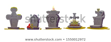 vector set of tombstone Stock photo © olllikeballoon