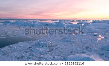 氷山 氷河 自然 風景 ストックフォト © Maridav