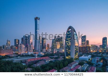 Foto stock: Linha · do · horizonte · Pequim · detalhado · China · céu · cidade