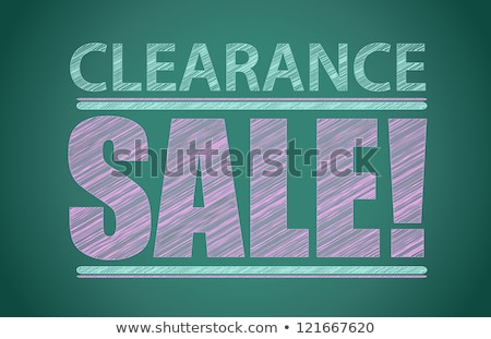 Clearance sale written on a blackboard Stock photo © bbbar