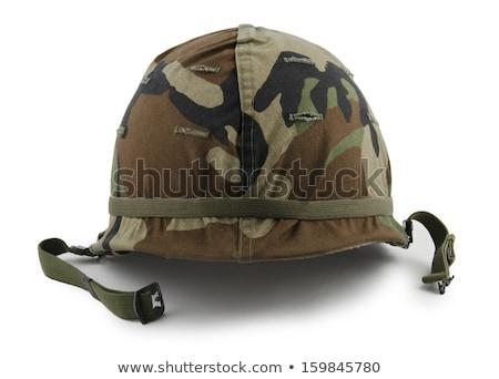 Leger helm geïsoleerd witte achtergrond Stockfoto © dehooks