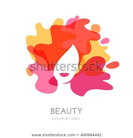 lány · absztrakt · színes · ruha · izolált · fehér - stock fotó © zybr78