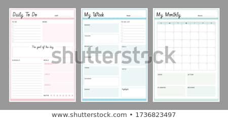 Tijdschrift pagina dagboek klaar tekst papier Stockfoto © cmcderm1