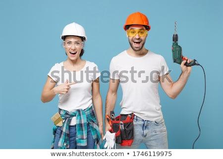 vrouw · bouwvakker · hand · boor · vrouwelijke · permanente - stockfoto © photography33