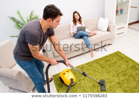 Jonge mannen huishouden werk home leven Stockfoto © photography33