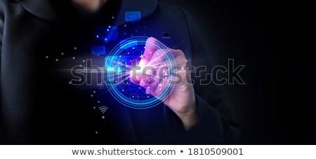 seo · 青 · バーチャル · スペース · インターネット · コンピュータ - ストックフォト © Ansonstock
