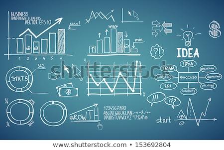 blank graph on blackboard Stock photo © PixelsAway
