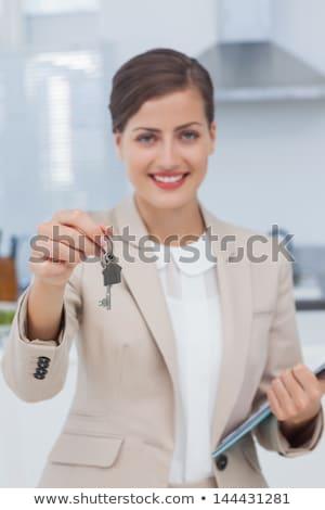 ключами · служба · улыбаясь · женщины - Сток-фото © photography33