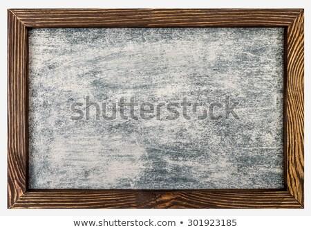 Ahşap çerçeve kot duvar arka plan uzay mavi Stok fotoğraf © vkraskouski