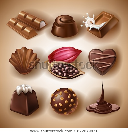 vettore · cioccolato · set · alimentare · amore - foto d'archivio © freesoulproduction
