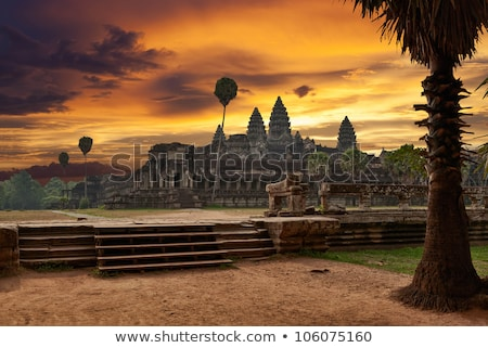 sunset at angkor wat cambodia stock photo © bbbar