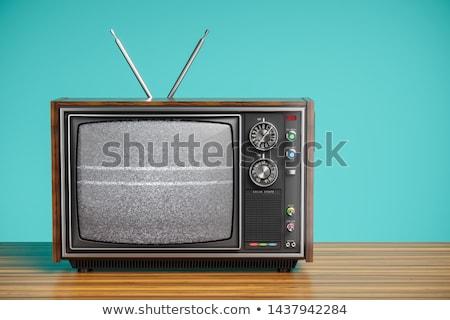 Eski tv anten çatı Bina televizyon Stok fotoğraf © njnightsky