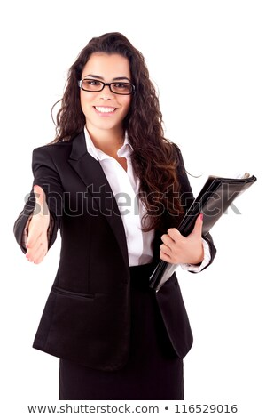 üzletasszony kész kézfogás közelkép kép fiatal Stock fotó © feedough