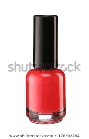 estúdio · beleza · tiro · mulher · vermelho · pintado - foto stock © photography33