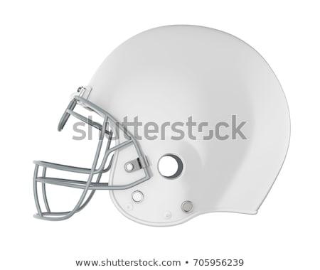 Piłka nożna kaski biały refleksji zabawy zespołu Zdjęcia stock © m_pavlov