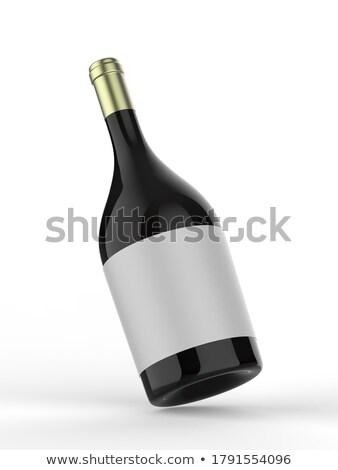большой · зеленый · стекла · бутылку · вина · белый - Сток-фото © jakatics