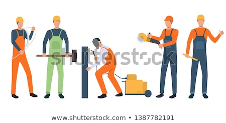 young construction worker holding sledge hammer stock photo © photography33