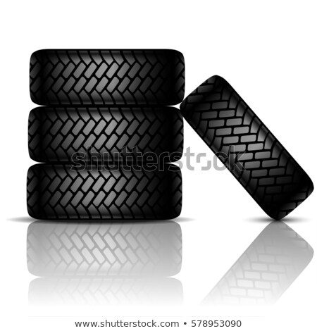 Detailed 3D Vector Tire Stock photo © experimental