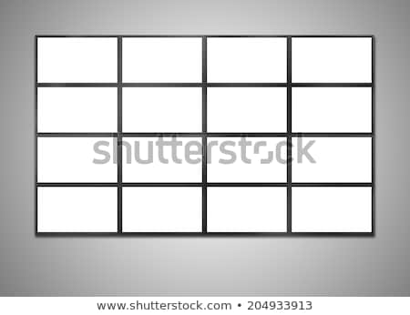 Modern szélesvásznú LCD monitor izolált fehér Stock fotó © tashatuvango