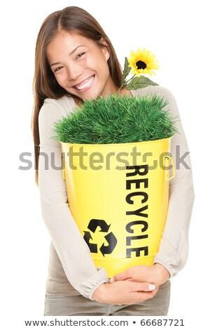 funny · árboles · reciclaje · signo · vector - foto stock © pcanzo