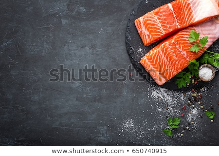 raw salmon fillet background Stock photo © shutswis