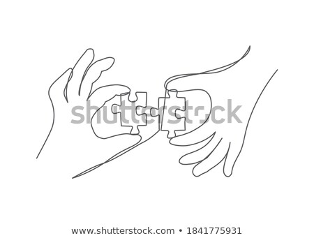 Holding a Blank Puzzle Piece Stock photo © winterling