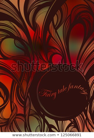 Сток-фото: Abstract Fairy Tale Curls Vector Illustration With Round Copy Space