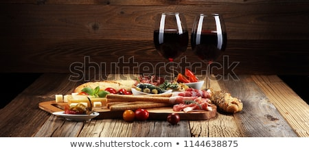 Olive Variety Buffet in Delicatessen Stock photo © feverpitch