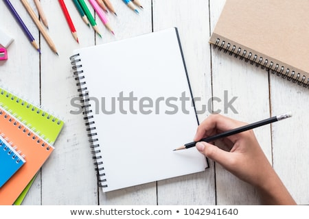 Stok fotoğraf: Blank Paper With Pen And Eraser