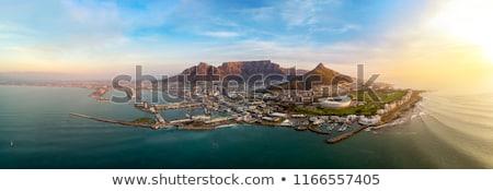 Fokváros asztal hegy felhők Dél-Afrika távoli Stock fotó © intsys