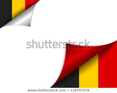 Belgium vidék zászló oldal felirat utazás Stock fotó © gubh83